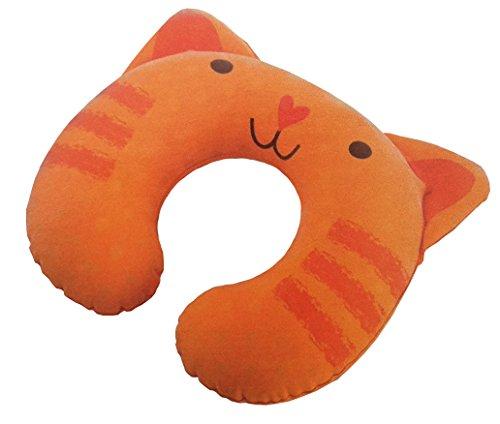 Preisvergleich Produktbild aufblasbares Kinder Nackenkissen Reisekissen Nackenhörnchen Reise Kissen Nackenstütze (Katze)