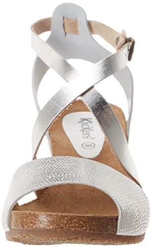 Weh29di Spagnol Xdqztwp Compensées Sandales Kickers Blanc Argent Femme WQdxeBrCo