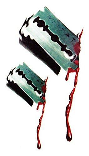 ht Narbe Aufkleber für Cos Spielen Partys oder Halloween temporäre Tattoo Papier (Halloween-cos)