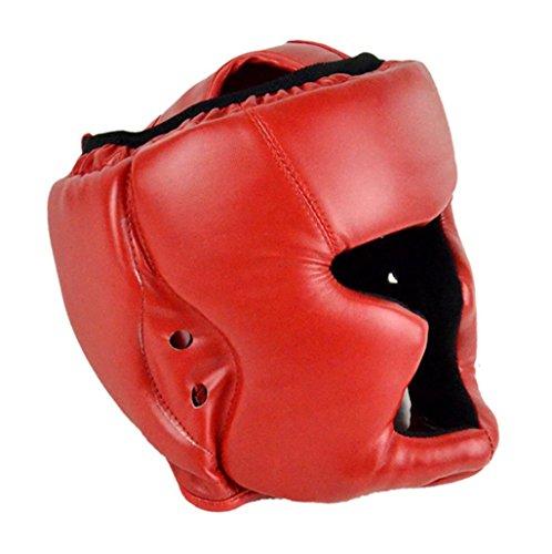 Boxeo MMA casco - casco de entrenamiento de boxeo All4you cuero luchan