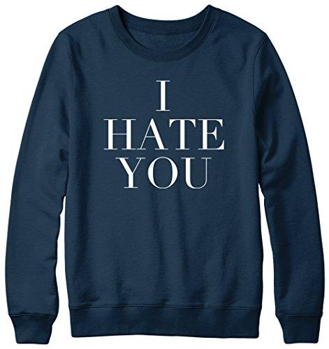 Je déteste vous Fun Slogan Humour Hipster musique Pull Unisexe Bleu - Bleu marine