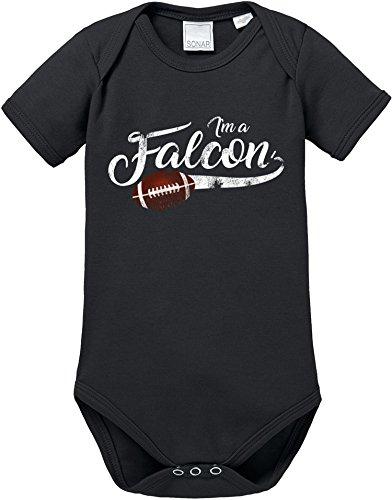 EZYshirt I`m a Falcon | American Football Bio Baumwolle Baby Body Shortsleeve