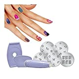 #9: Divinext Salon Express Professional Nail Polish Art Kit Decals Paint Stamp
