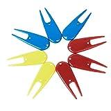 8pcs Plastikgolfball Gabeln Golfdivot Werkzeuge Golfer Kit Golf-Reparatur-Werkzeug -