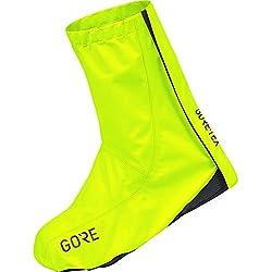 Gore Wear Cubrezapatos impermeables de ciclismo, GORE C3 GORE-TEX Overshoes, Talla: 42-44, Color Amarillo neón, 100242