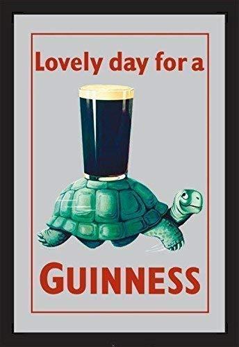 Guinness Turtle Nostalgie Barspiegel Spiegel Bar Mirror 22 x 32 cm -