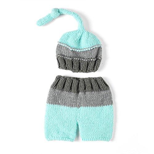 aierwish Kinder Baby Strick Mütze Fotoshooting Neugeborene Muster Design Hut Kostüm Hüte