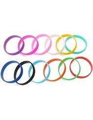 ZOOMY Fitness Power Bands Uomo Basket Sport Braccialetti energetici Braccialetti in Silicone Colore a Caso