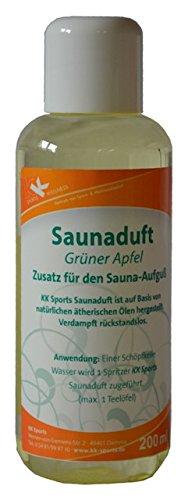 KK Hygiene Premium Sauna Aufguss Konzentrat | hochwertiges Saunaduft Öl | Grüner Apfel | 200 ml Flasche