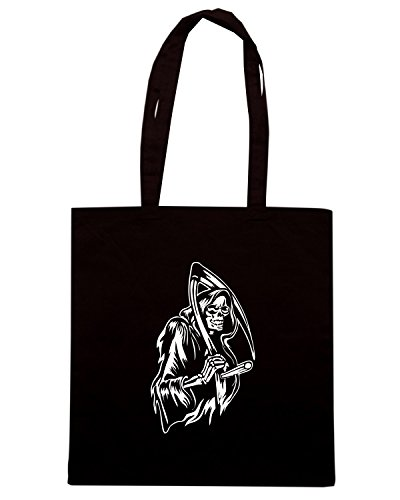 T-Shirtshock - Borsa Shopping FUN0179 07 11 2013 Grin of the Reaper T SHIRT det Nero