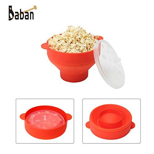 Pop-corn Baban Micro-ondes Popcorn pour Cuisson de Pop Corn avec Poignées Pratique- Rouge
