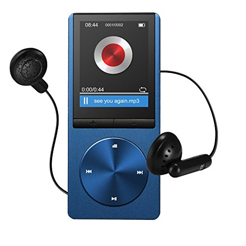 VicTsing tragbare 8GB Sport MP3 Player Bild Musik Player mit Spor Musik Player mit FM, unterstüzen 64GB Micro SD, Media Player, Ebook, t Armband kopfhörer und USB kabel -Blau