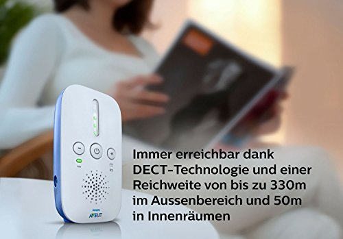 Philips Avent SCD501/00 DECT Babyphone (Smart Eco Mode, Nachtlicht)