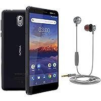 Pack Nokia 3.1 Smartphone débloqué 4G (Ecran : 5,2 pouces - 16Go - Micro SD - Android One) Noir + Ecouteurs Muvit M1I offert