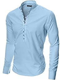 MODERNO Manches Longues Chemise Casual Homme (MOD1431)