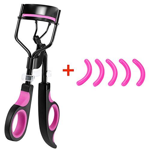 professionnel Recourbe-cils Plastique Beauté cils bigoudi avec 5 recharges abrasives pour femme