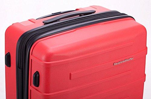 HAUPTSTADTKOFFER® 37 Liter (ca. 55 x 36 x 21 cm) · Handgepäck · OSTKREUZ · TSA Schloss · Farbe: ROT MATT Rot