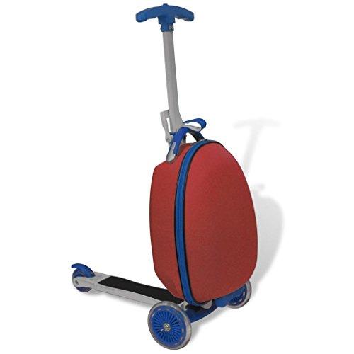 vidaXL Monopattino Scooter a rotelle per Bambini Rosso con Borsa Davanti