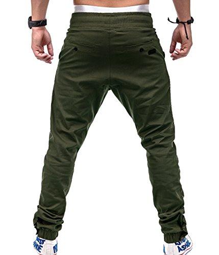 Betterstylz VenomBZ Biker Chino-Jogger Pantalon Chino Èlégant Homme 6 couleurs (S-3XL) Vert Oliv