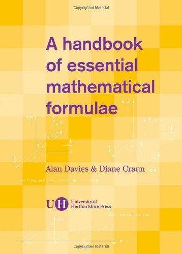 A Handbook of Essential Mathematical Formulae by Davies, Alan, Crann, Diane (August 31, 2004) Spiral-bound