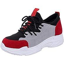 Dragon868 Sneakers Donna Zeppa Scarpe Plateau Velluto Invernale Mixed  Colors Sportive Ginnastica con Lacci Comode Regalo 710590695ad