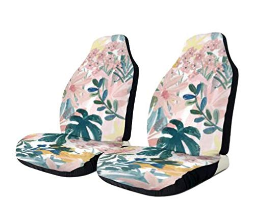 Sitz Auto Abdeckung Hawaii Palm Leaves Elastischer Eimer Universal Sitzbezug Autositzbezüge Sitzschutz Fit Geländewagen Meisten Auto LKW 2 Stück