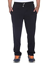 ELK Mens's Black Cotton Track Pant Trouser With Side Pockets Clothing Set