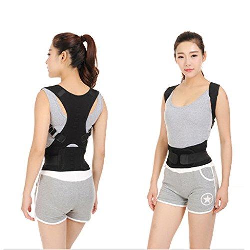 ewinever (R) Neopren Haltung Korrektor Rücken Schulter Brave Lendenwirbelstütze Breathable Gürtel für die Haltung Korrektur geeignet für Männer und Frauen (Größe: L) (Voll Haltung Bh)