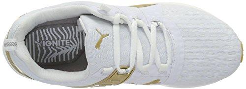 Puma Ignite XT V2 Gold Wns, Scarpe da Corsa Donna Bianco (Weiß (puma WHITE-GOLD 01))