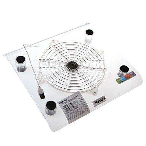 Intex Notebook Cooling Pad Laptop Kühler Unterlage 30 x 27cm 200mm Lüfte