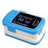 Finger Pulsoximeter –% SpO2(Blut Sauerstoffsättigung) und Herzfrequenz-Monitor mit Anweisungen, perfekt für Sport Verwendung–Qualität Design, a