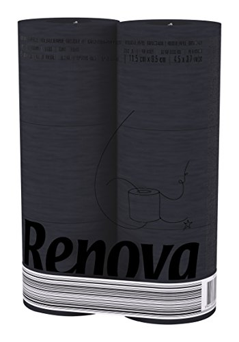 Renova Black Label Toilettenpapier Schwarz ( 6 Rollen )