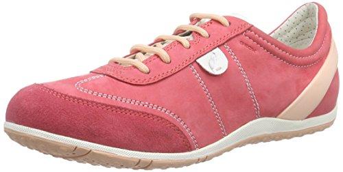 Geox D Vega A, Baskets Basses Femme Rouge (C7008)