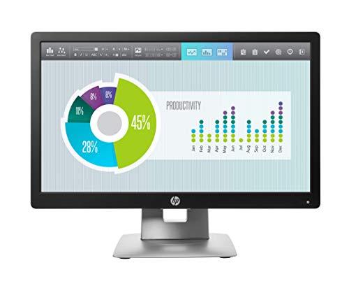 HP EliteDisplay E202 (20 Zoll / HD+) Business Monitor (VGA, HDMI, Displayport, USB 2.0, 7ms Reaktionszeit, 60Hz) schwarz/silber