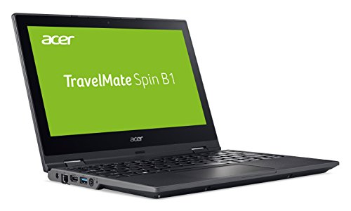 Acer TravelMate Spin B1 TMB118-RN-C42Z 29,5 cm (11,6 Zoll Multi-Touch Full-HD IPS) Convertible Laptop (Intel Celeron N3450, 4GB RAM, 128GB SSD, Intel HD, Linux) schwarz