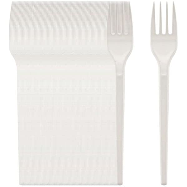 100 White Plastic Disposable Cutlery Forks for Parties Weddings Party /& BBQ UK