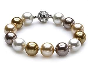 Damen Armband Muschelkernperlen Armband Strass-Bead 19 x 1cm 1090-20