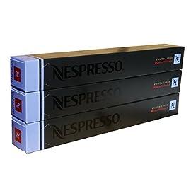 Nespresso Capsules – Vivalto Lungo Decaffeinato – 30 Capsules, 3 Sleeves – New Decaf variety