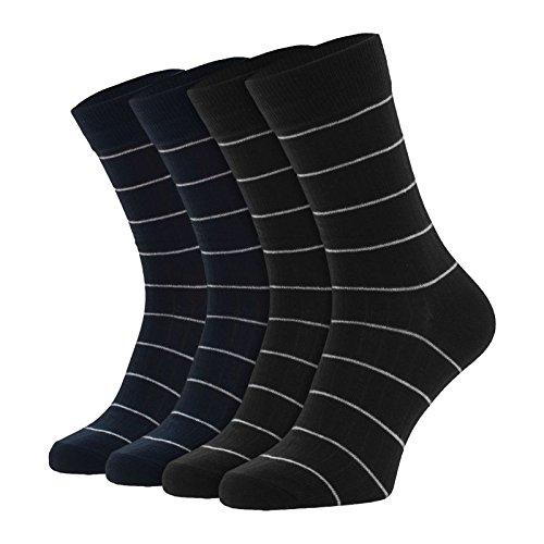Jack & Jones 4-er Set Socken Schwarz und Dunkelblau : 41-46 Größe 41-46
