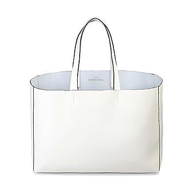Made In Italia  Lucrezia, Sac pour femme à porter à l'épaule Blanc Nata