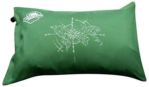 IceFox Reisekissen – Campingkissen – aufblasbares Kopfkissen – Kissenbezug