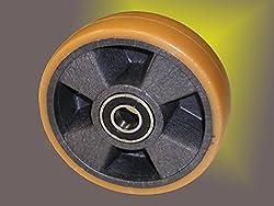Schwerlast Polyurethan Räder PU Rad ø 150 mm, Tragkraft 600Kg, beidseitig Kugellagerung, spurfrei