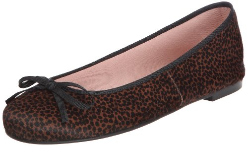Pretty Ballerinas - 40763, Bailarina Donna Leopard / Marron (kaviar Brown)