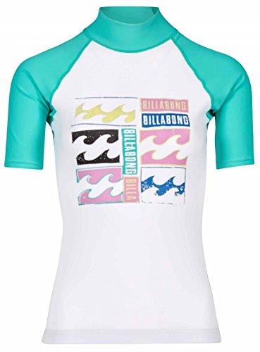 BILLABONG 2018 Ladies Logo Short Sleeve Rash Vest Pool Blue H4GY01 Sizes- - Medium -