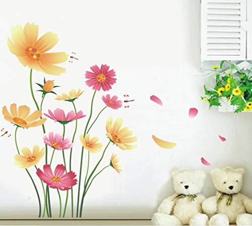QTHBW Stickers Muraux Autocollants Décoratifs Daisy Bricolage Décoration Mural Salon Salon Moderne Chambre Poser Décoration Papier Peint
