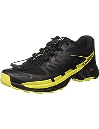 Salomon Wings Pro 2, Zapatillas de Running para Hombre, Negro (Black/Sulphur Spring/Black), 42 EU