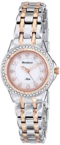 Armitron Women's 75/5194MPTR Swarovski Crystal-Accented Two-Tone Bracelet Watch