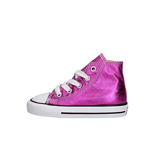 Converse - Converse Ctas Hi Magenta Chaussures de Sport Petite Fille Fucsia Pourpre
