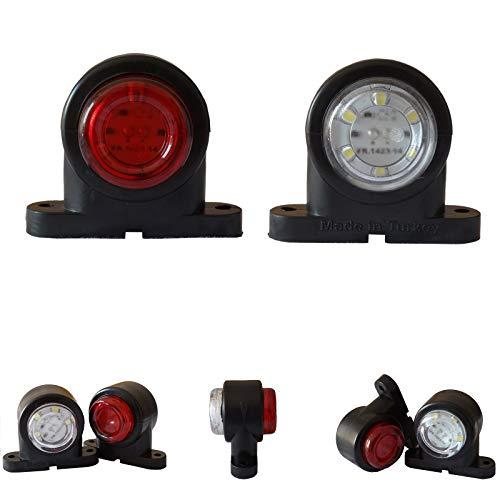 2x LED Umrissleuchte Begrenzungsleuchten 12V 24V Volt Positionsleuchten LKW PKW KFZ Anhänger (Led-anhänger Positionsleuchten)