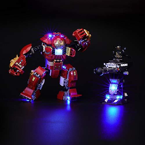 BRIKSMAX Kit de LED pour Lego Marvel Super Heroes Le Combat de Hulkbuster, Compatible avec la Maquette Lego 76104, La Maquette de Construction n'est Pas Incluse